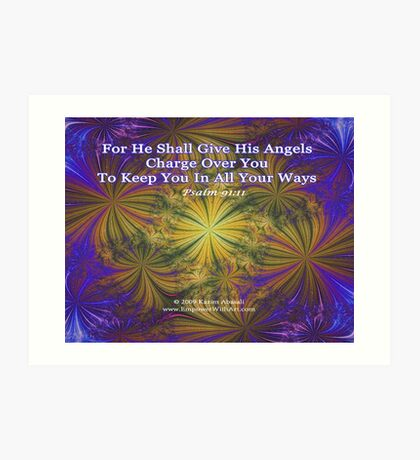 For He Shall Give His Angels - Psalm 91:11 Art Print