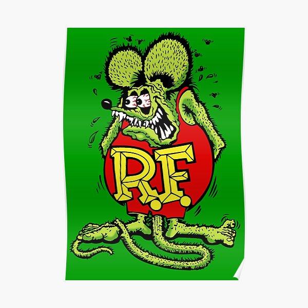 Rat Fink Sticker Poster