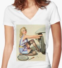 Gil Elvgren Appreciation T-Shirt no. 02 Women's Fitted V-Neck T-Shirt