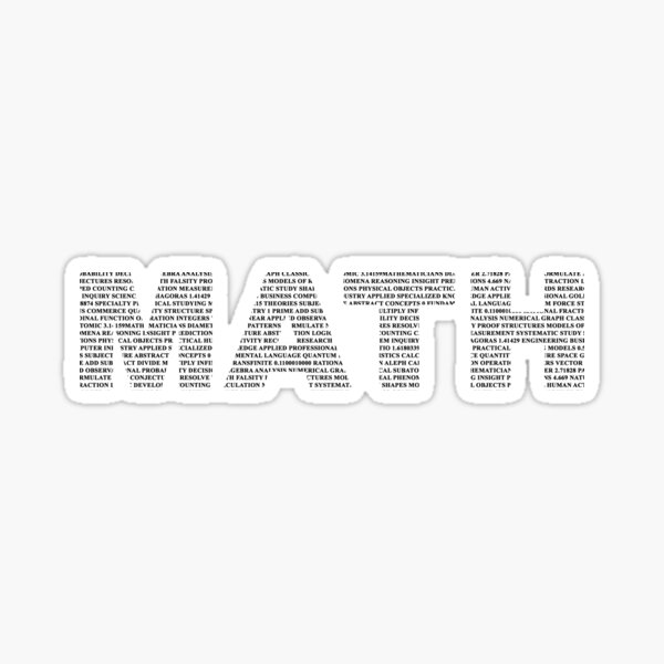Math Text Sticker