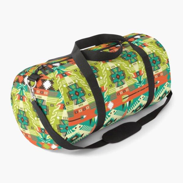 Green and Yellow Aztec Merchandise Duffle Bag
