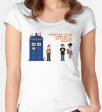 Doctor Who Calls IT Crowd  Women's Fitted Scoop T-Shirt