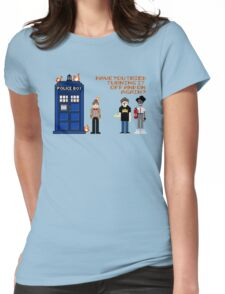 Doctor Who Calls IT Crowd  Womens Fitted T-Shirt