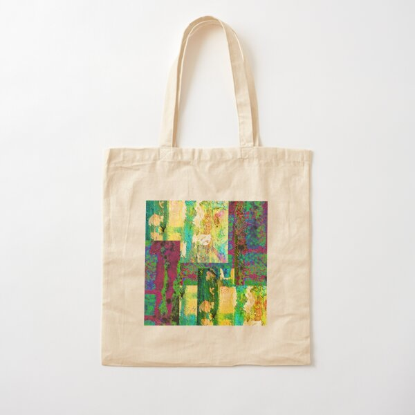 Modern Impressionist Style Abstract Art Cotton Tote Bag