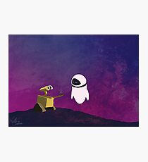 Wall-e minimal pop art design Photographic Print
