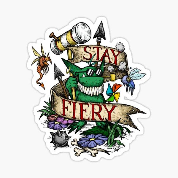 Stay Fiery Sprite Sticker