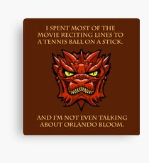 Smaug Quotes-Colbert Report- Orlando Bloom Canvas Print