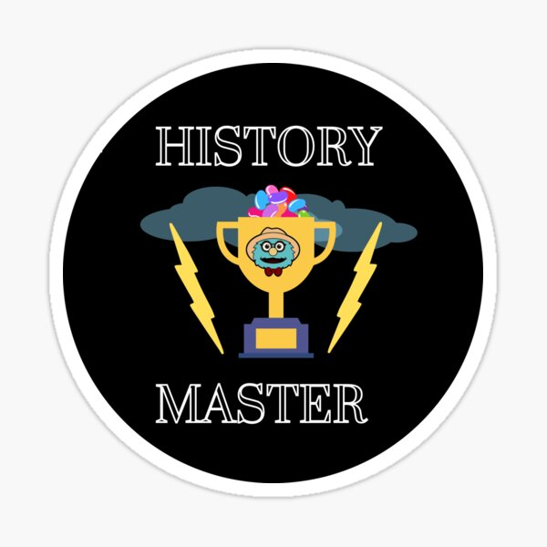 Puppet History: The Coveted Cup of History Master Sticker