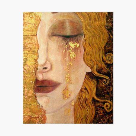 Freya's Tears (Golden Tears) portrait by Gustav Klimt Art Board Print