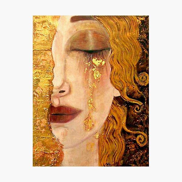 Freya's Tears (Golden Tears) portrait by Gustav Klimt Photographic Print