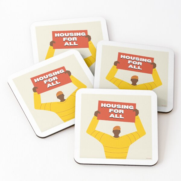 Housing For All Coasters (Set of 4)