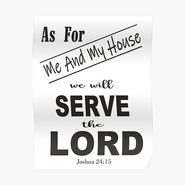 SERRVE THE LORD Poster