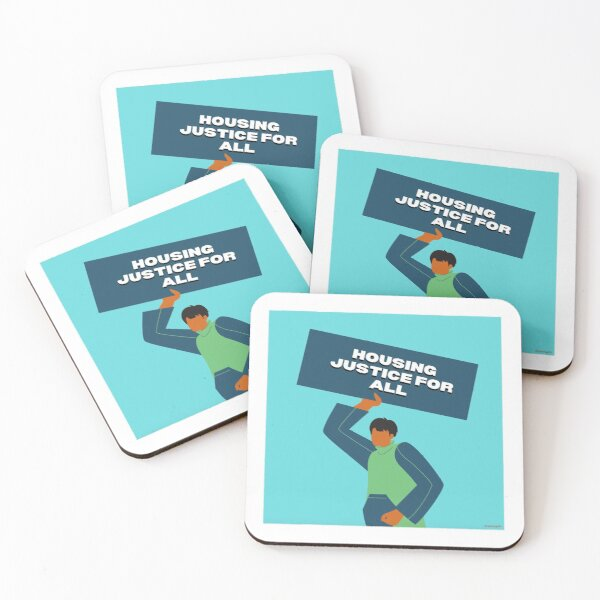 Housing Justice For All Coasters (Set of 4)