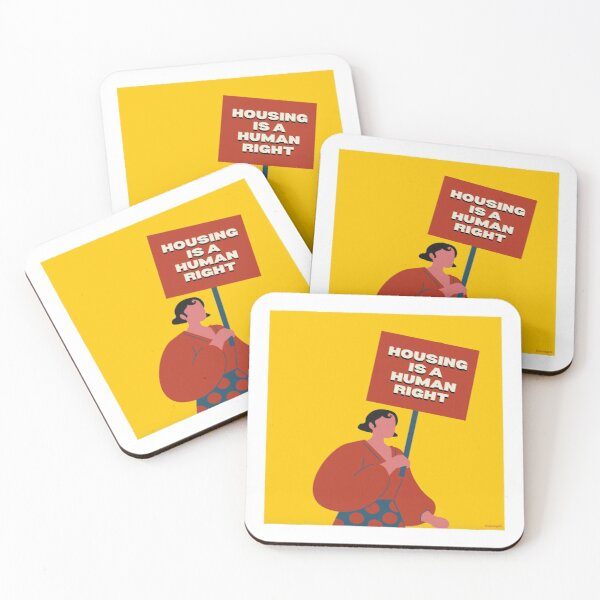 Housing Is A Human Right Coasters (Set of 4)