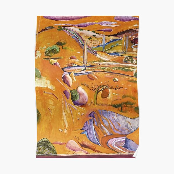 Brett Whiteley- 'The Paddock - Late Afternoon' (1979). Oil on canvas painting, by the great Australian artist. Poster