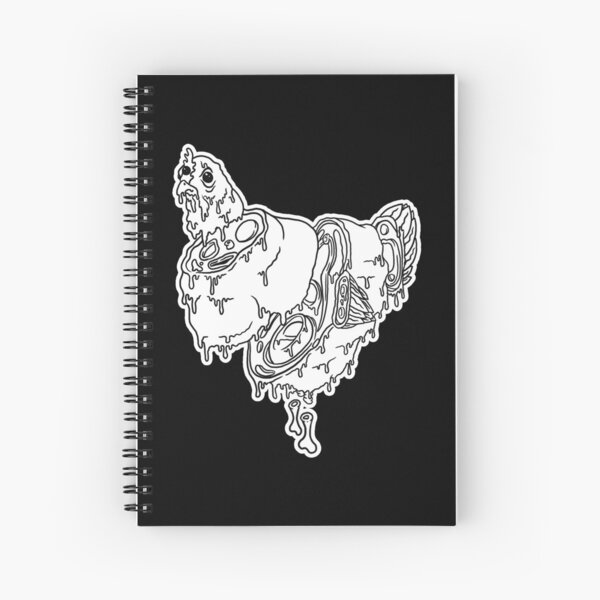 Black and White Green Eggs & Grime Spiral Notebook