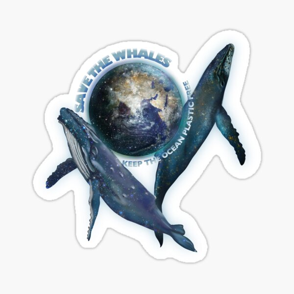 Save the whales, Save the Planet Sticker