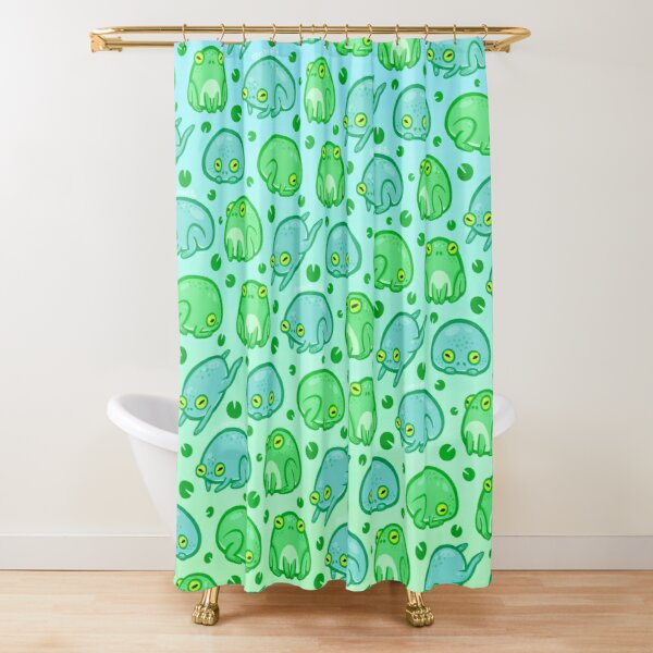 Friendly Frogs Shower Curtain