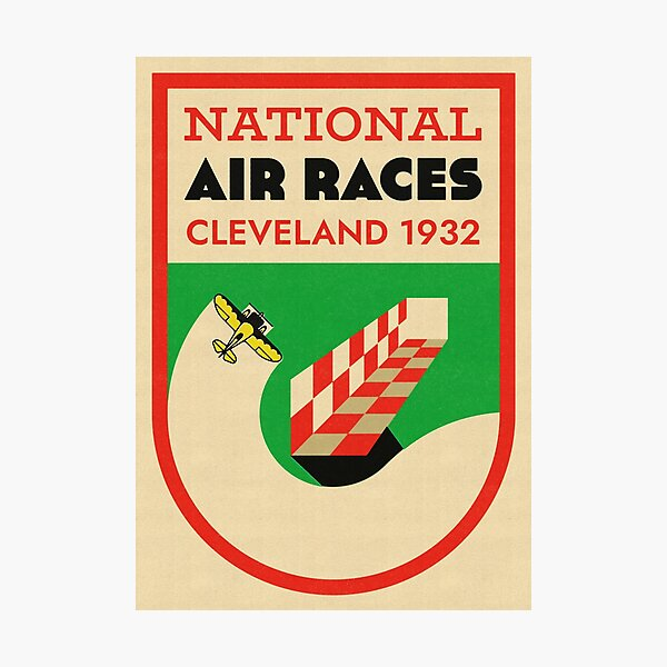 National Air Races Cleveland 1932 Vintage Print Photographic Print