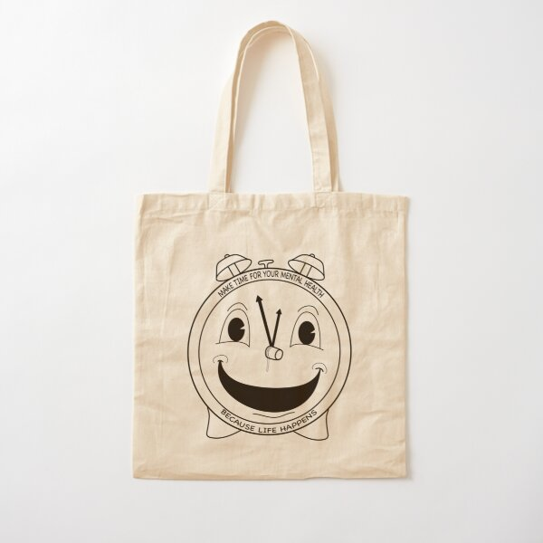 Make Time For Your Mental Health Cotton Tote Bag