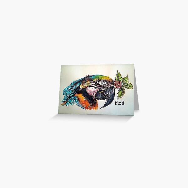 Christmas bird. Elizabeth Moore Golding© Greeting Card