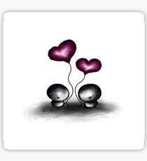 Stone man's heart balloons Sticker