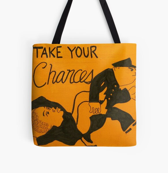 Monopoly game parody Take Your Chances All Over Print Tote Bag