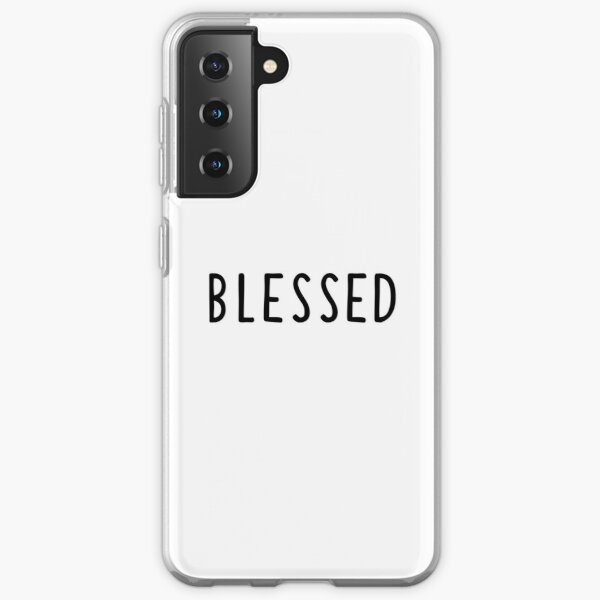 Christian Quote Retro Bible Verse  - Blessed Samsung Galaxy Soft Case