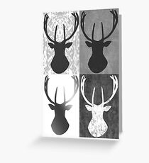 Lapland Madness Retro 4in1 B/W Greeting Card