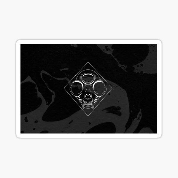 Cat Skull Washed Background Sticker