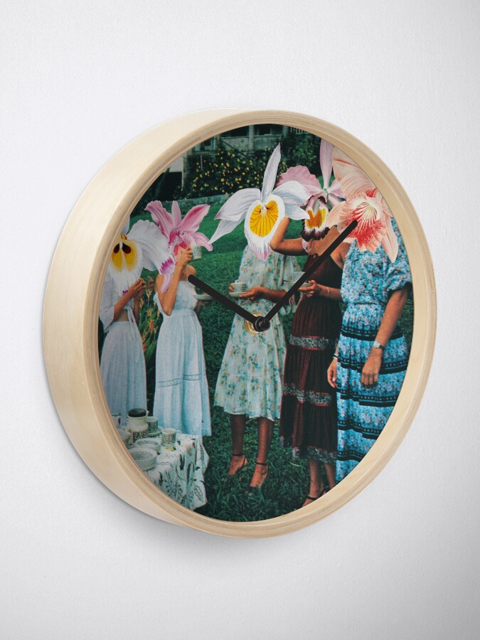 Alternate view of Conversing With The Wildflowers Clock