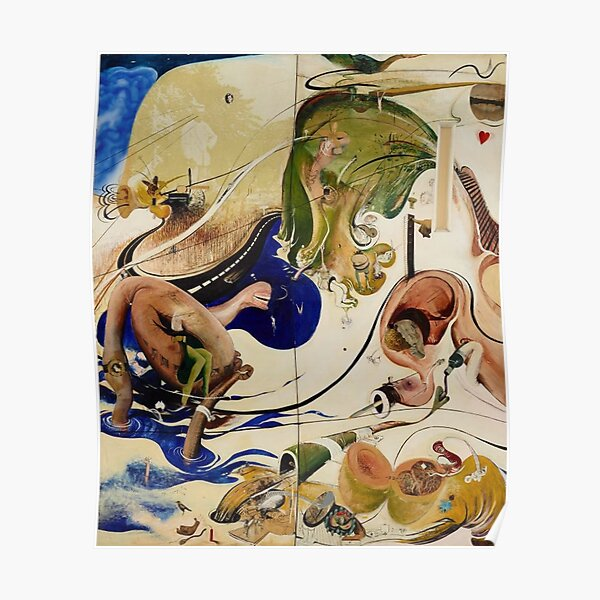 Brett Whiteley- A section from the masterpiece 'Alchemy' (1972-73) Oil and Mixed media painting, by the great Australian artist. Poster