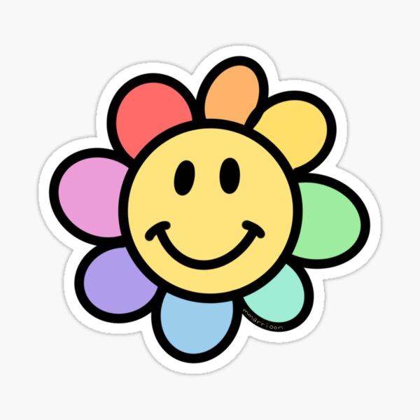 Rainbow Happy Daisy Sticker