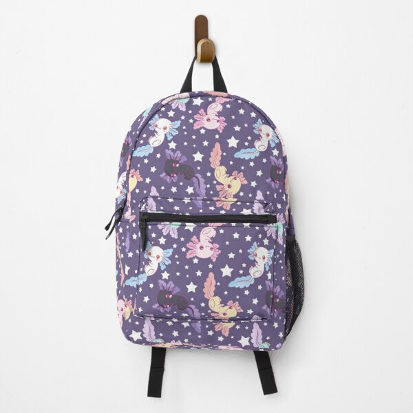 kawaii axolotl pattern lilac Backpack