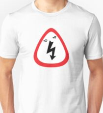Guitar Pick / Plectrum: Traffic sign high voltage Unisex T-Shirt