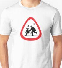 Guitar Pick / Plectrum: Traffic sign school ahead Unisex T-Shirt