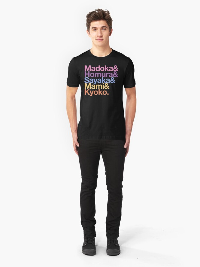 Alternate view of Contractually Obligated Magical Girls - Madoka goes Helvetica Slim Fit T-Shirt