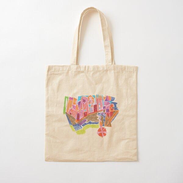 New Earth Temple + Eco-Village Cotton Tote Bag