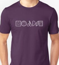 Team Joestar Symbols [White Ver.] Unisex T-Shirt