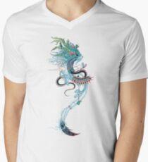 Reisegeist (Hermelin) T-Shirt mit V-Ausschnitt für Männer
