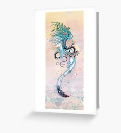 Journeying Spirit (ermine) Greeting Card