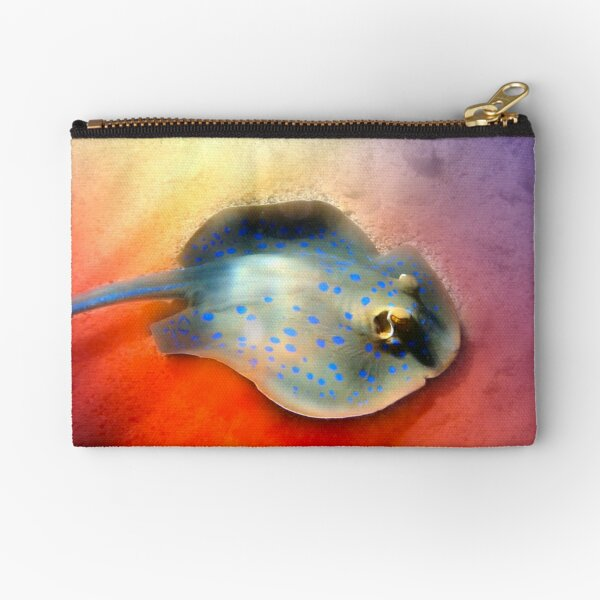 Red Sea Blue Spotted Stingray Creatively Zipper Pouch
