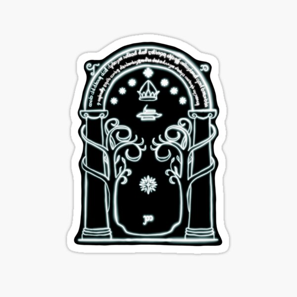 Durin's Gate to Moria (Glow) Sticker