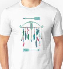 Feathers, Bow, and Arrows Watercolor T-Shirt