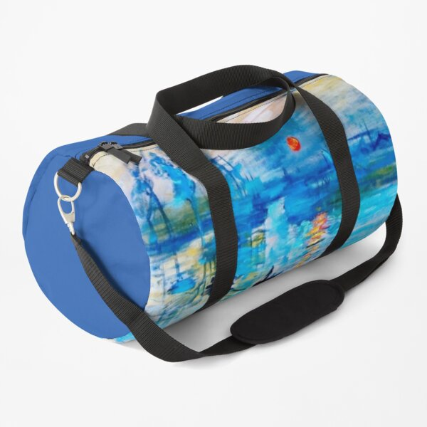 "Claude Monet | ""Impression Sunrise"" Fine Art Reproduction Duffle Bag"