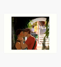 Iwaoi Holidays kiss Art Print