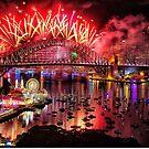 Sydney NYE Fireworks 2015 # 15 by Philip Johnson
