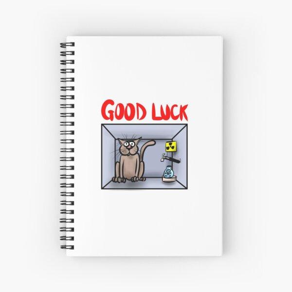 Schrodingers Cat Good Luck Chemistry Cartoon Spiral Notebook