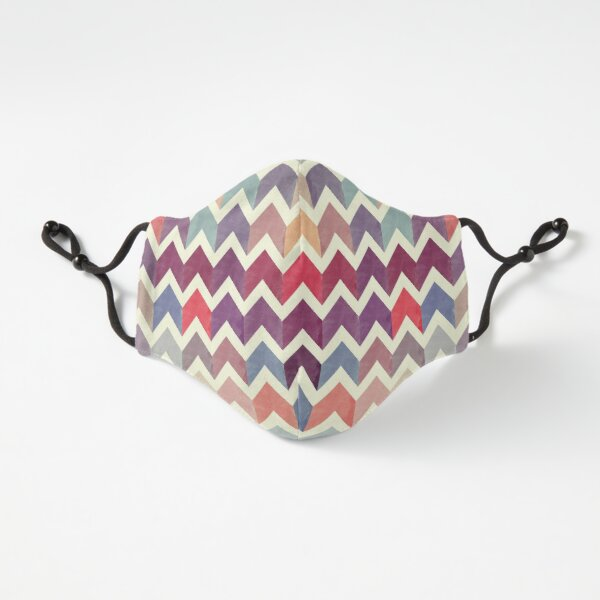 Watercolor Chevron Pattern VII Fitted 3-Layer