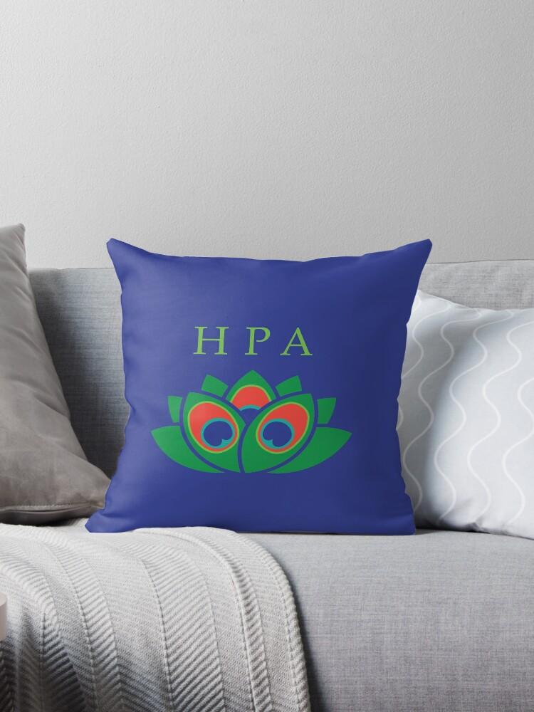 Hera Peacock Lotus Greek Goddess Design Throw Pillow By Owlisharts Redbubble